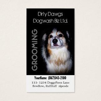 Cartão De Visitas Groomer do cão ou lavagem enlameada do cão