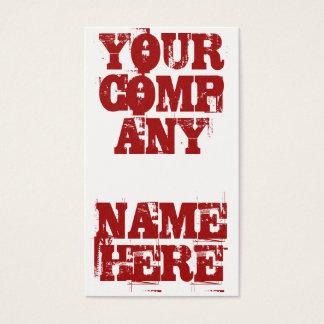 Cartão De Visitas Grunge corajoso (vermelho)