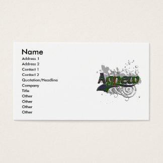 Cartão De Visitas Grunge do Tartan de Agnew