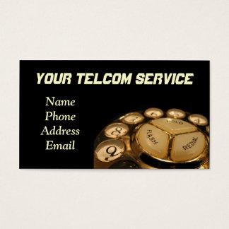 Cartão De Visitas Grupo de telefone do seletor giratório do vintage