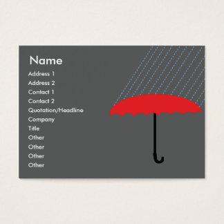 Cartão De Visitas Guarda-chuva - carnudo