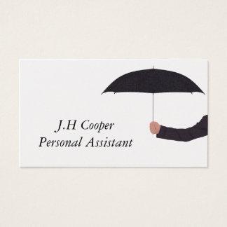 Cartão De Visitas Guarda-chuva do assistente pessoal