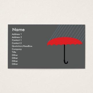 Cartão De Visitas Guarda-chuva - negócio