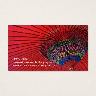 Cartão De Visitas Guarda-chuva vermelho