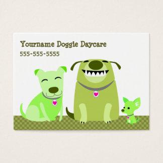 Cartão De Visitas Guarda do cachorrinho/caminhante do cão