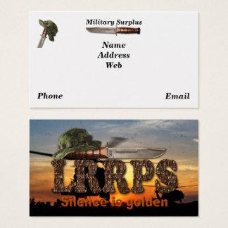 Cartão De Visitas Guardas florestais dos fuzileiros navais da força