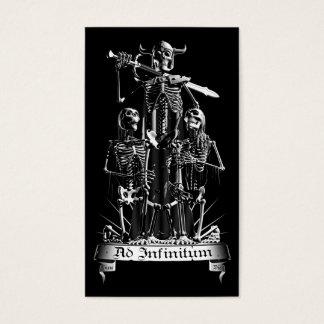 Cartão De Visitas Guerreiro de esqueleto