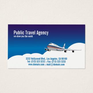 Cartão De Visitas Guia turística piloto da agência de viagens
