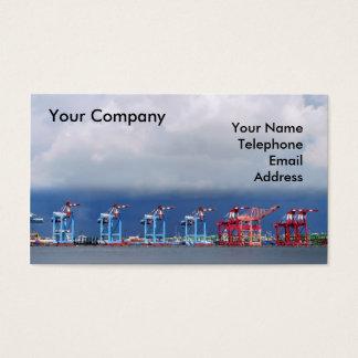 Cartão De Visitas Guindastes e recipientes do transporte