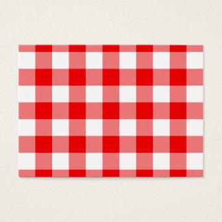 Cartão De Visitas Guingão vermelho