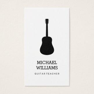 Cartão De Visitas Guitarra acústica do músico minimalista