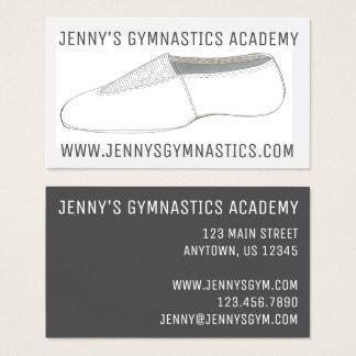 Cartão De Visitas Gymnast de caída da ginástica dos Acrobatics de