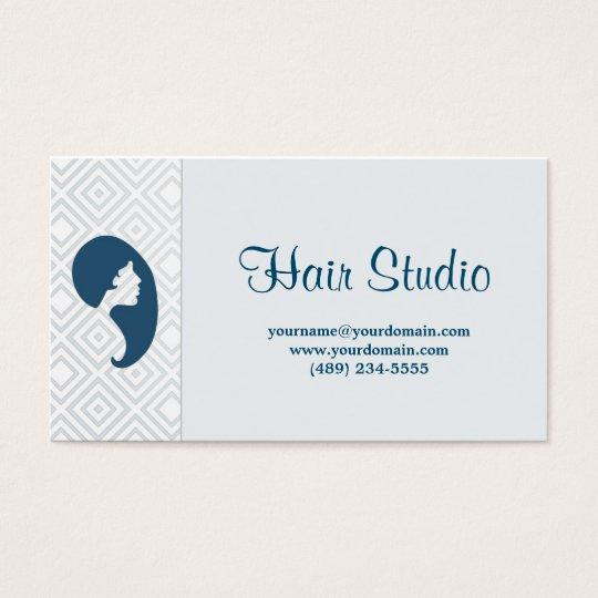 Cartão De Visitas Hairstudio soft blue with fidelity