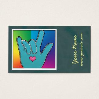 Cartão De Visitas Harmonia da cor de ILY mim