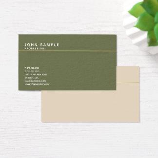 Cartão De Visitas Harmonia elegante da cor do vintage do design de