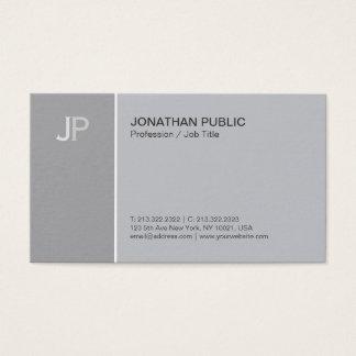 Cartão De Visitas Harmonia lisa elegante moderna do cinza do