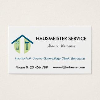 Cartão De Visitas hausmeisterservice serviço porteiro