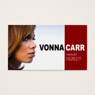 Cartão De Visitas Headshot do cantor para o músico do vocalista