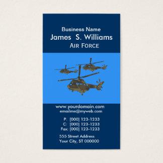 Cartão De Visitas Helicópteros originais na moda das forças armadas
