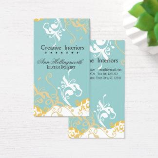 Cartão De Visitas Hemerocallis azul Pastel floral artístico subtil