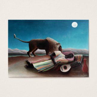 Cartão De Visitas Henri Rousseau o vintage aciganado do sono