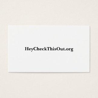 Cartão De Visitas HeyCheckThisOut.org
