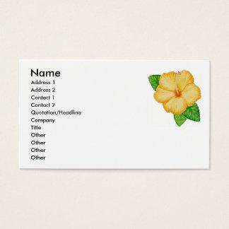 Cartão De Visitas Hibiscus alaranjado