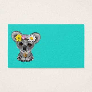 Cartão De Visitas Hippie bonito do Koala do bebê