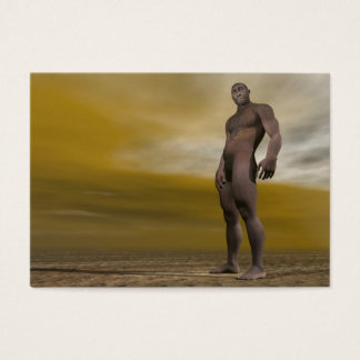 Cartão De Visitas Homo erectus masculino - 3D rendem