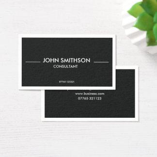 Cartão De Visitas Horizonte elegante escuro do cinza de ardósia -
