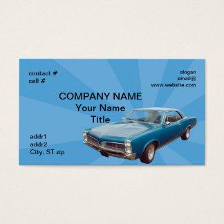 Cartão De Visitas Hotrod azul retro