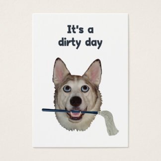 Cartão De Visitas Humor sujo do xixi do cão do dia
