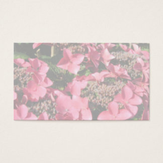 Cartão De Visitas Hydrangea. Flores cor-de-rosa. Cores Pastel macias
