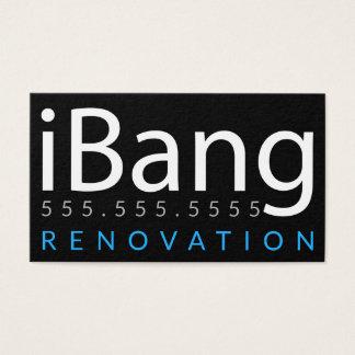 Cartão De Visitas iBang. Negócio da renovação do telhado da