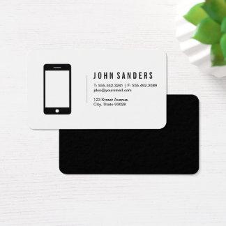 Cartão De Visitas Ícone minimalista do telefone