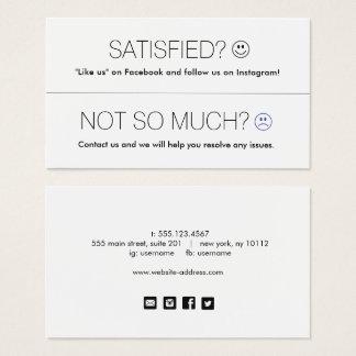 Cartão De Visitas Ícones sociais dos meios da apreciação do cliente
