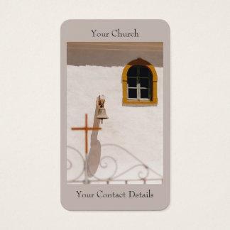 Cartão De Visitas Igreja grega com cruz e Bell Paxos