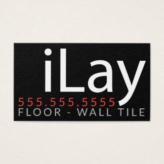 Cartão De Visitas iLay. Promo customizável do Tiler da telha do