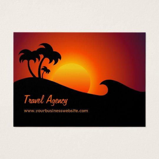 Cartão De Visitas Ilha tropical da agência de viagens