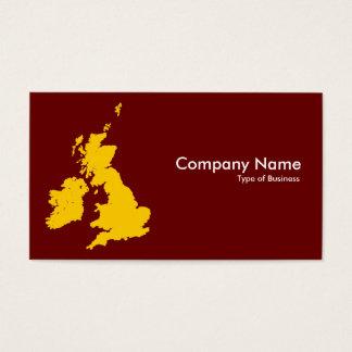 Cartão De Visitas Ilhas britânicas - ambarinas e marrom escuro