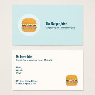 Cartão De Visitas Ilustração do Hamburger com tomate e alface