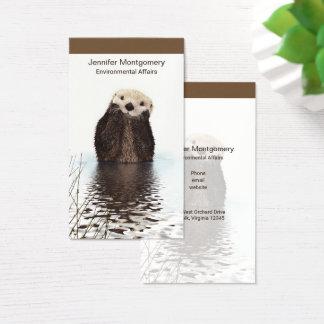 Cartão De Visitas Imagem bonito dos animais selvagens da lontra