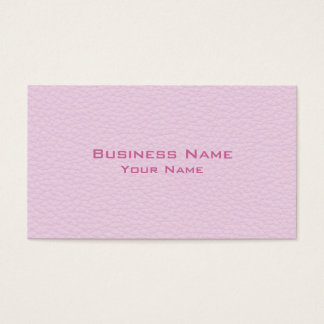 Cartão De Visitas Imagem da luz - couro cor-de-rosa