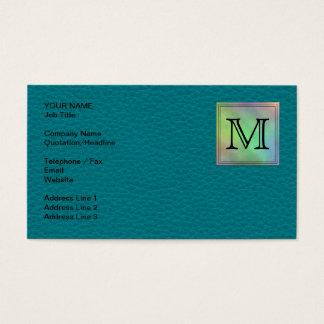 Cartão De Visitas Imagem feita sob encomenda impressa do monograma