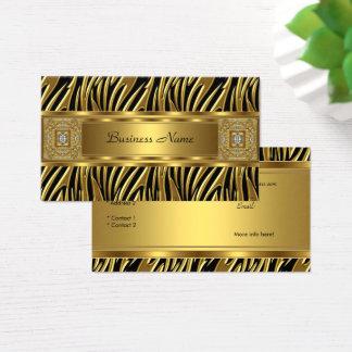Cartão De Visitas Imagem selvagem do olhar da jóia do preto da zebra
