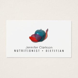 Cartão De Visitas Imagem transparente da fruta abstrata