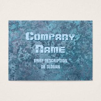 """Cartão De Visitas Impressão azul """"descrição"""" da corrosão carnudo"""