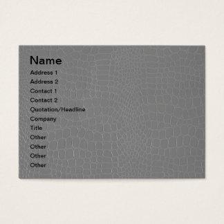 Cartão De Visitas Impressão cinzento do réptil do jacaré