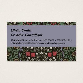 Cartão De Visitas Impressão da arte da tapeçaria da ameixoeira-brava