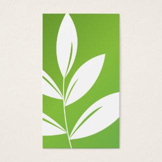 Cartão De Visitas Impressão da natureza - folhas do verde
